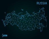 Karte von Russland Auch im corel abgehobenen Betrag Karte der Welt stock abbildung