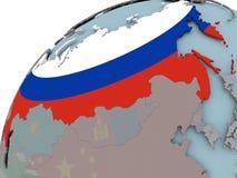 Karte von Russland mit Flagge Lizenzfreie Stockbilder