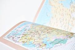 Karte von Russland und von Europa Stockfotografie