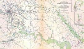 Karte von südöstlichem Virgina und von Fort Monroe lizenzfreies stockbild