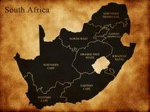 Karte von Südafrika stock abbildung
