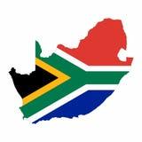 Karte von Südafrika Stockbilder