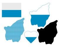 Karte von San Marino Lizenzfreie Stockfotografie