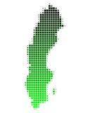 Karte von Schweden stock abbildung