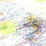 Karte von Seattle Lizenzfreies Stockfoto