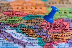 Karte von Serbien Lizenzfreies Stockfoto