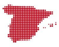 Karte von Spanien Stockfotos