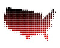 Karte von Staaten von Amerika Stockfotografie