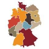 Karte von Staaten von Deutschland Stockbild
