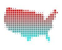 Karte von Staaten von Amerika Stockfoto