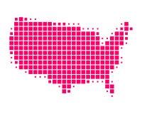 Karte von Staaten von Amerika Lizenzfreie Stockfotos