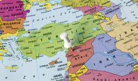 Karte von Syrien in Mittlerem Osten Stockfotos