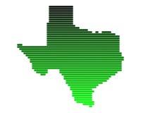 Karte von Texas lizenzfreie abbildung