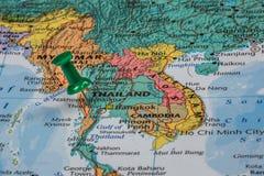 Karte von Thailand lizenzfreie stockfotografie