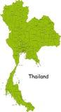 Karte von Thailand stock abbildung