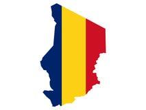 Karte von Tschad lizenzfreie abbildung