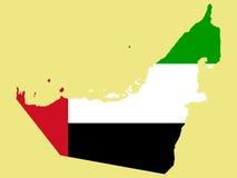 Karte von United Arab Emirates Lizenzfreie Stockfotos