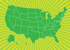 Karte von US Lizenzfreies Stockbild