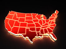 Karte von USA. 3d Stockbild