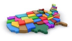 Karte von USA Lizenzfreie Stockbilder