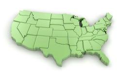 Karte von USA Stockbilder
