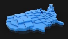 Karte von USA Stockfotos