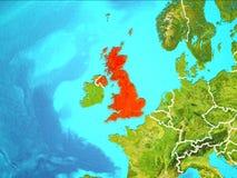 Karte von Vereinigtem Königreich Lizenzfreie Stockfotos