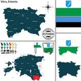 Karte von Voru, Estland Lizenzfreie Stockfotografie