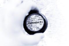 Karte von Washington Gleichstrom Lizenzfreies Stockbild