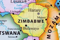 Karte von Zimbabwe lizenzfreie stockfotos