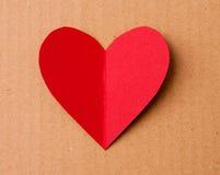 Karte während eines Valentinstags Stockbild