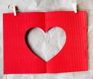 Karte während eines Valentinstags Lizenzfreies Stockbild