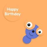 Karte zum Geburtstag Stockfoto