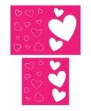 Karte zum Valentinstag Stockfoto