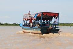 Karten-Abgassammler im Tonle Saft stockfotografie