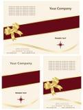Karten-Broschüre-Schablone Stockbilder