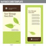 Karten-Broschüre-Schablone der Zahnstangen-4x9 Stockfotos