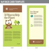 Karten-Broschüre-Schablone der Zahnstangen-4x9 Lizenzfreie Stockfotos