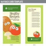 Karten-Broschüre-Schablone der Zahnstangen-4x9 Lizenzfreies Stockbild