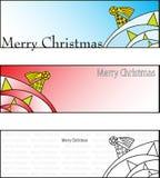 Karten der frohen Weihnachten Stockbild