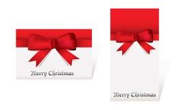 Karten der frohen Weihnachten Stockfotografie
