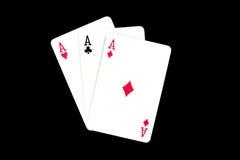 Karten für Poker Lizenzfreies Stockfoto