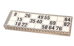 Karten für russisches Lotto (Bingospiel) Lizenzfreies Stockbild