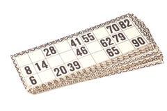 Karten für russisches Lotto (Bingospiel) Lizenzfreie Stockfotos
