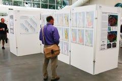 Karten-Galerie der ESRI Benutzer-Konferenz-2010 Stockfotografie