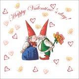 Karten-glücklicher Valentinsgruß-Tag Stockbild