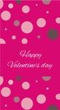 Karten-glücklicher Valentinstag Lizenzfreies Stockbild