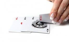 Karten-Händler lizenzfreie stockfotografie