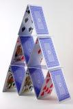Karten-Haus Stockbild