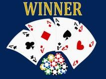 Karten, Kasinospiel, königliche Spiele, Illustration 3D, vektor abbildung